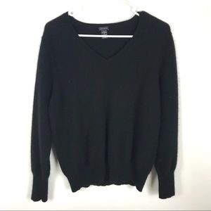 Only Mine 1X Cashmere 2ply Pull Over V Sweater